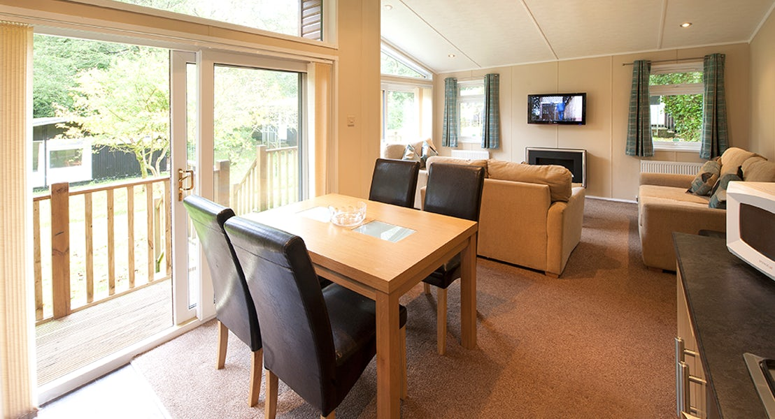 Dining Room- Patio Doors- Cornwall Holidays