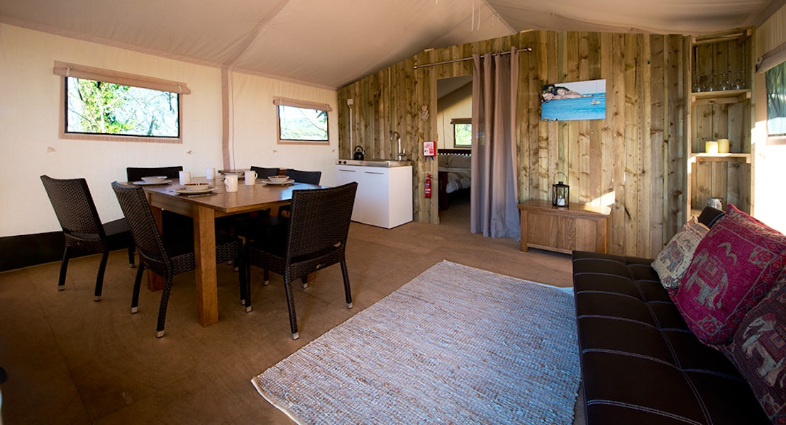 Safari Tent Interior | Glamping Breaks