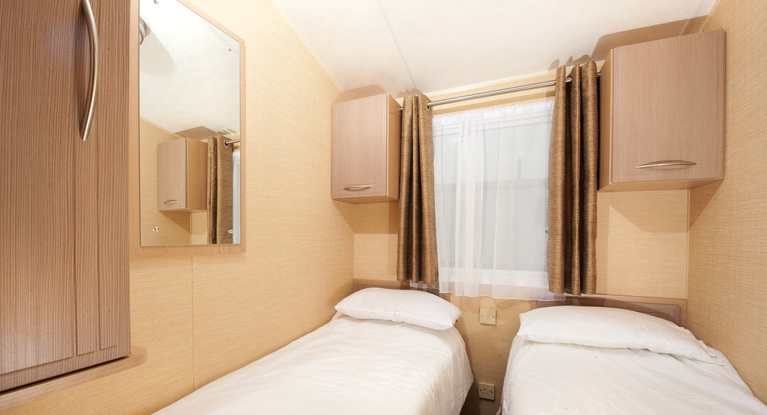 Twin bedroom bronze caravan