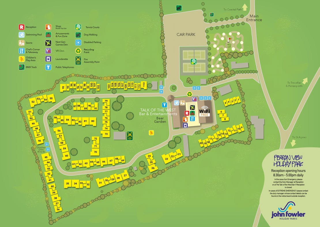 Perran View Holiday Park Map