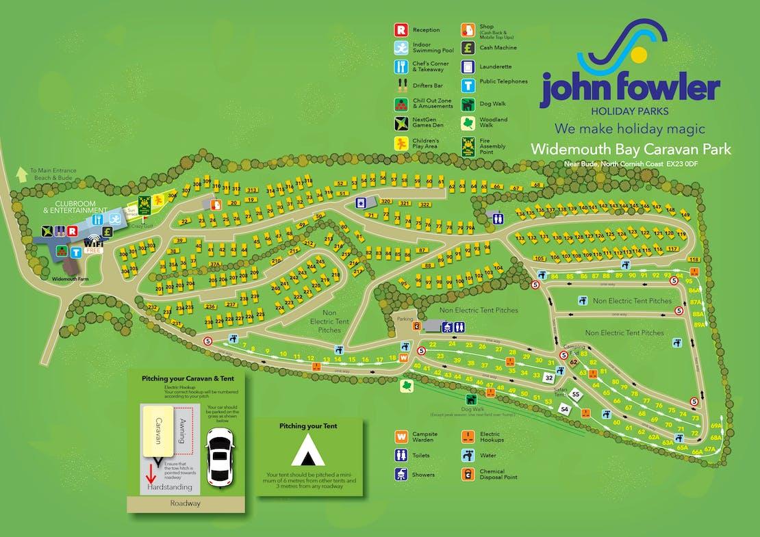 Widemouth Bay Caravan Park Map