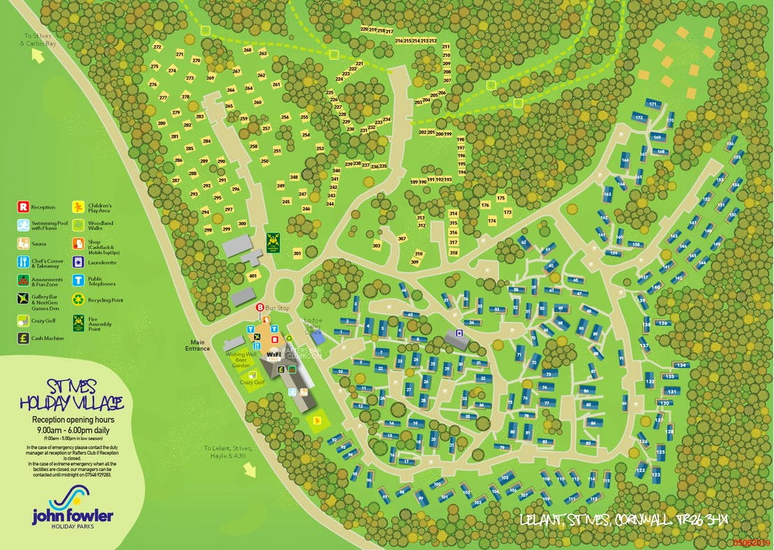 St Ives Holiday Village Map