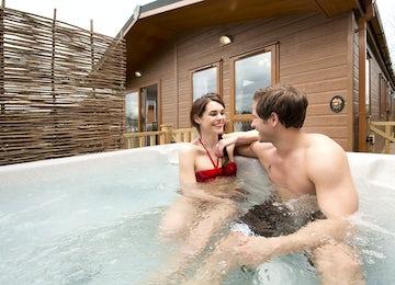 Gold Hot Tub Lodge
