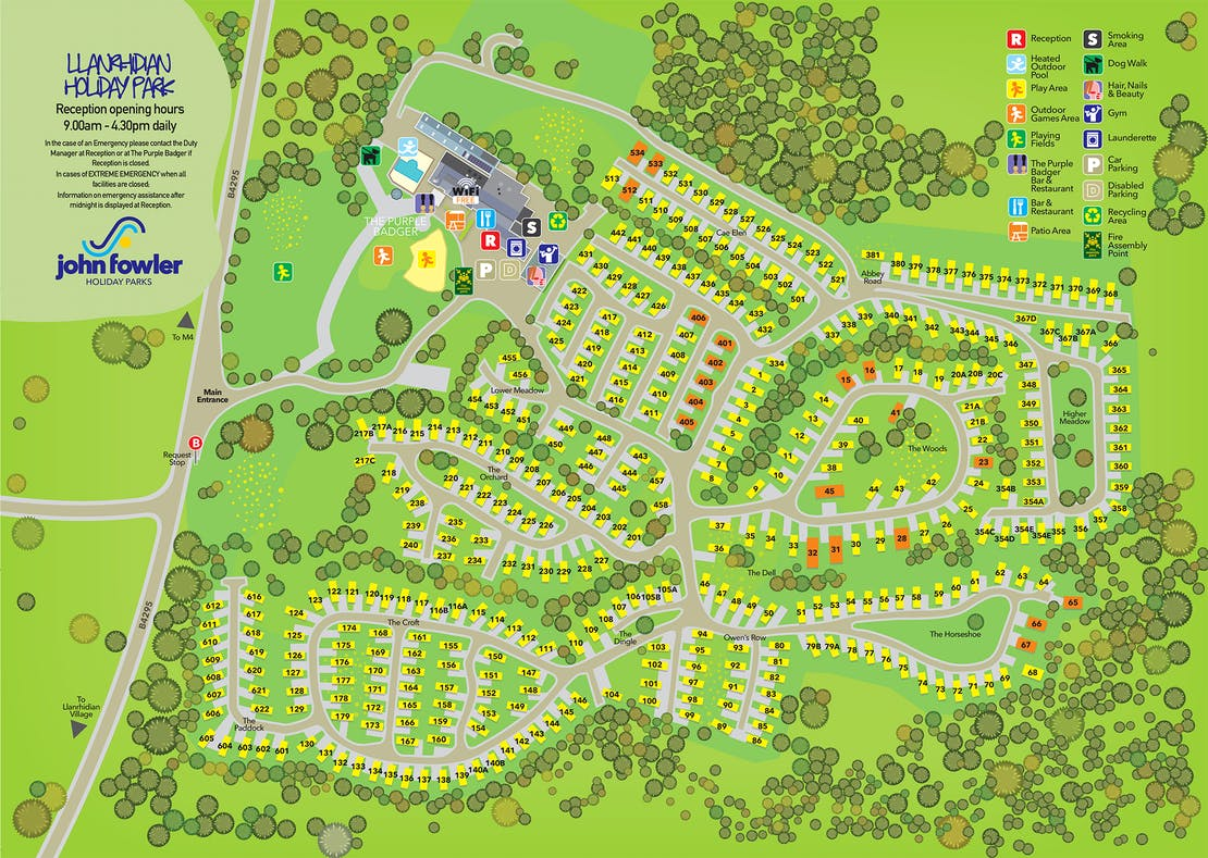 Llanrhidian Holiday Park Map