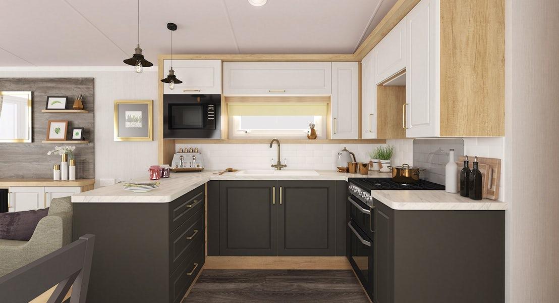 Alternative kitchen ¦ 3 Bedroom Platinum Caravan
