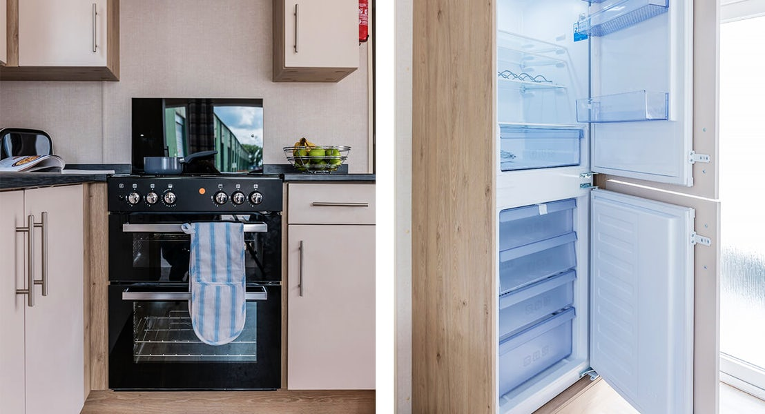 cooker/hood + fridge freezer