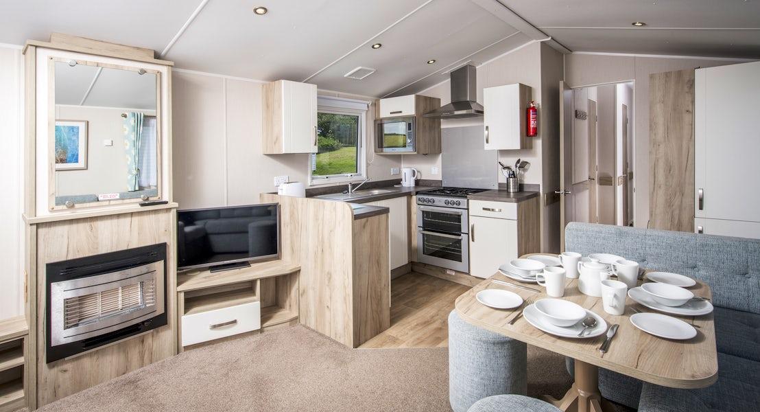Kitchen ¦ 3 bedroom platinum caravan