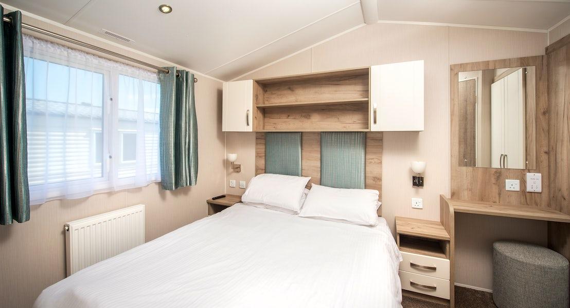 bedroom gold caravan