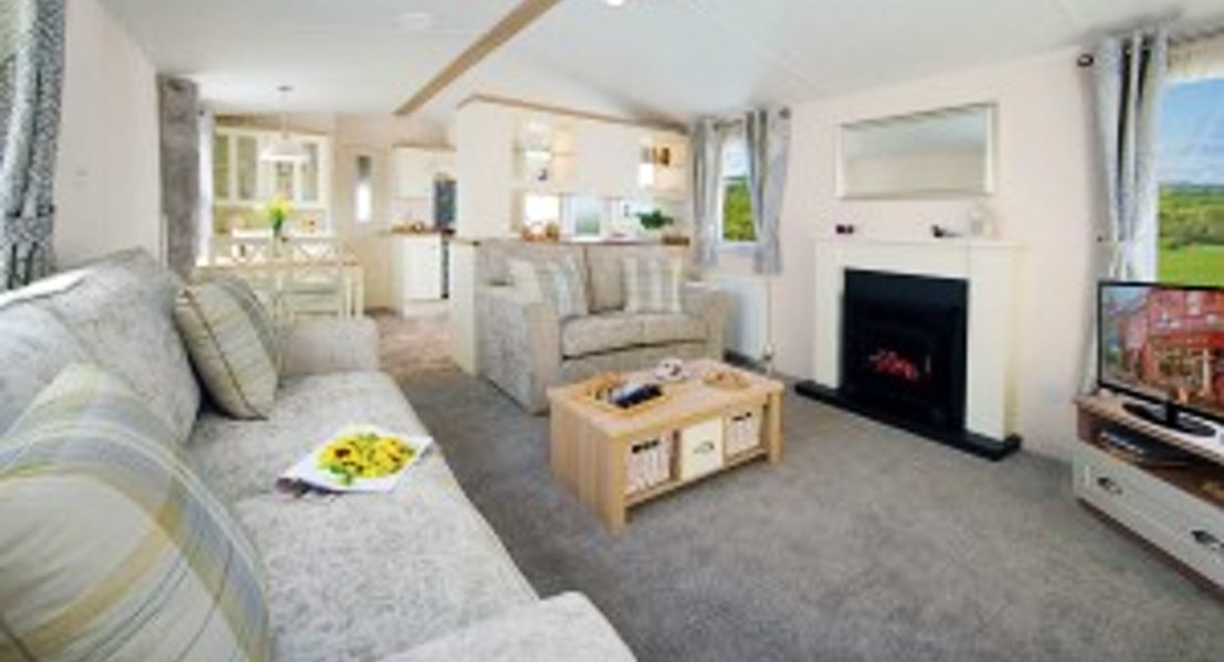 Lounge showing kitchen