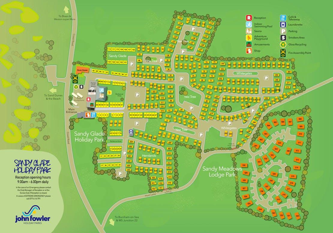 Sandy Meadows Lodge Park Map