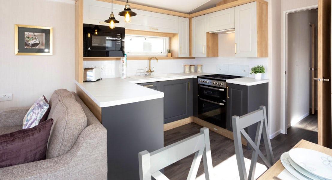 Kitchen ¦ 2 bedroom platinum caravan with hot tub