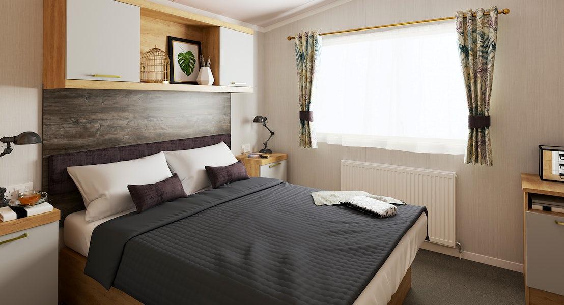 Bedroom ¦ 2 bedroom platinum caravan with hot tub